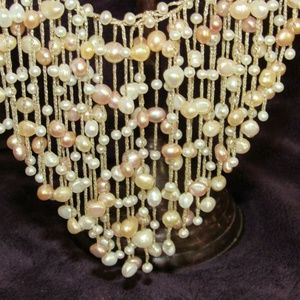 Jewelry - freshwater pearl waterfall necklace